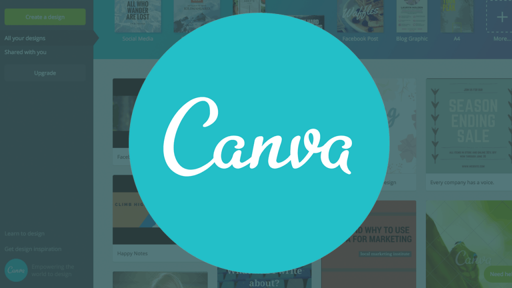 Create Shopify Store logo with Canva